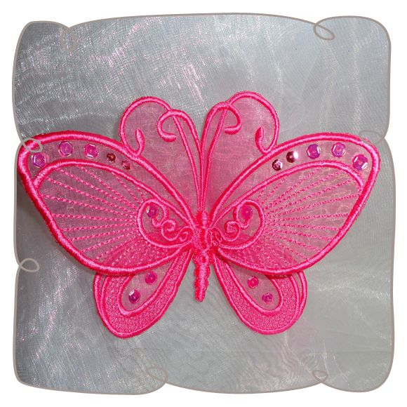 embroidery machine butterfly