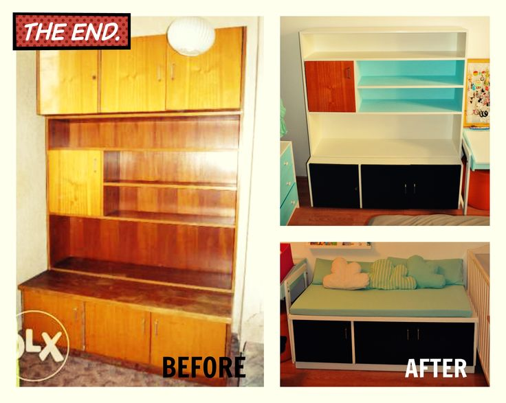 from old cabinet to trendy kidroom furnitures