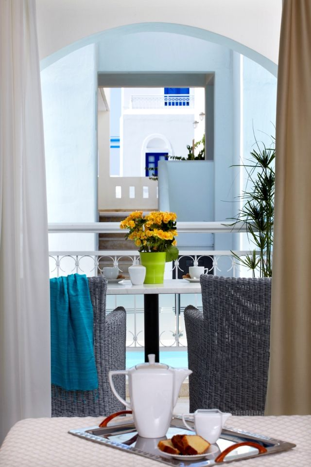 """#Anemos With a view to the pool, this suite is named after the strong #Aegean wind (""""anemos"""") blowing often in our island #MitosSuites #Naxos #Greece"""