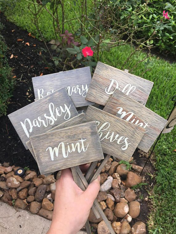 Ordinaire Herb Marker, Herb Sign, Herb Stakes, Garden Signs, Herb Garden, Spring  Decor, Mint, Basil, Oregano, | Garden Signs And Sayings | Pinterest | Plant  Markers, ...