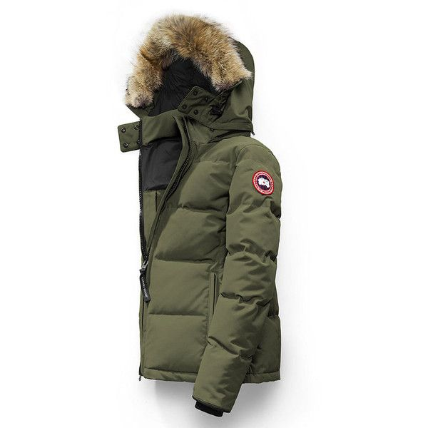 Canada Goose Chelsea Parka - Military Green ($850) ❤ liked on Polyvore featuring outerwear, coats, military green, canada goose coats, army green parka, army green parka coat, army green coat and green military coat