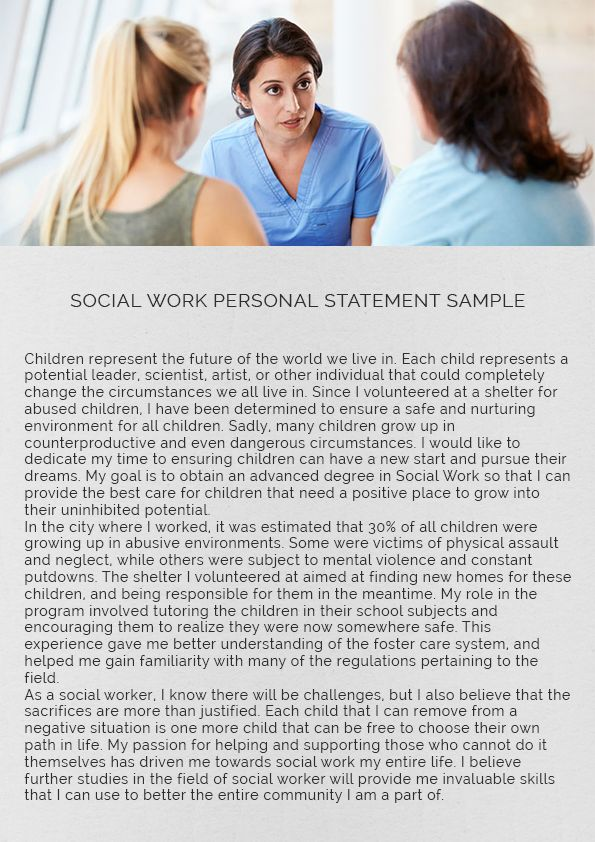 Essay for college admission social work