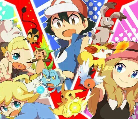 Ash,Serena,Bonnie and Clemont