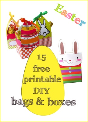15 free printable Easter DIY bags and boxes