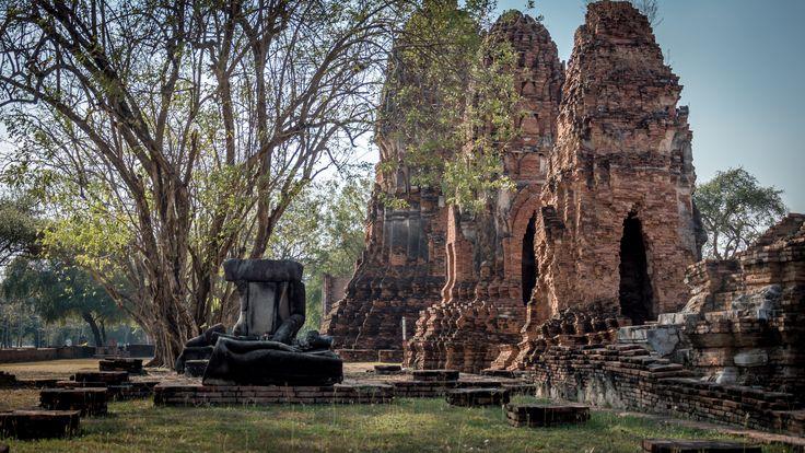 Ajutthaja, Tajlandia. Kiedyś stolica tego kraju a dzisiaj tylko ruiny.