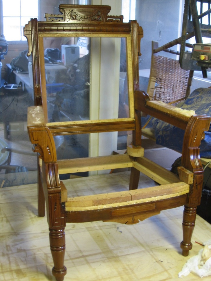 Eastlake Chair Being Repaired. Chair PartsChair RedoAesthetic Movement Antique ...