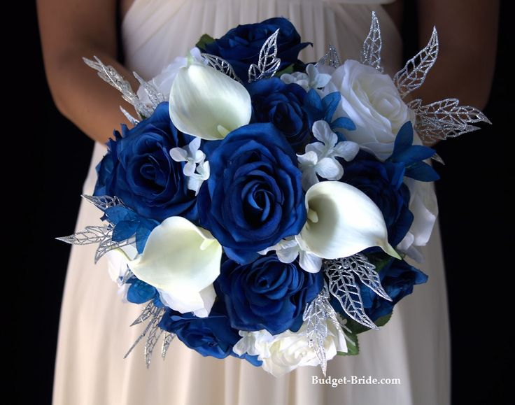 Winter Wonderland Wedding Flower Package. Complete wedding flower package with Bride, Maid of Honor, Throw Bouquet, Groom and Bestman for only $200