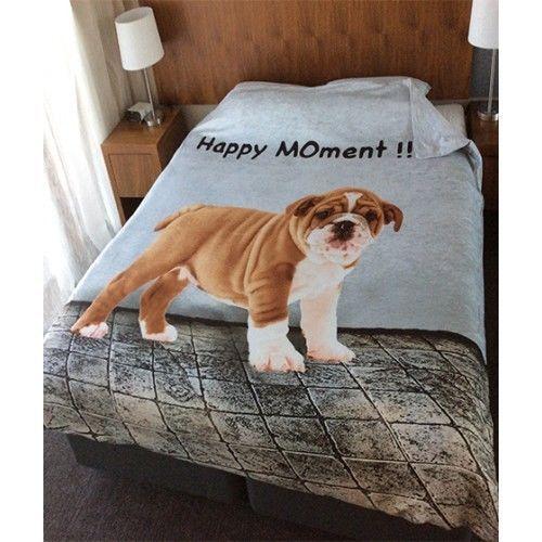 Luxury 3D PUG Duvet/Quilt Cover Set With Pillow Cases Bed Quilt Cover Set  #Ik #Pug