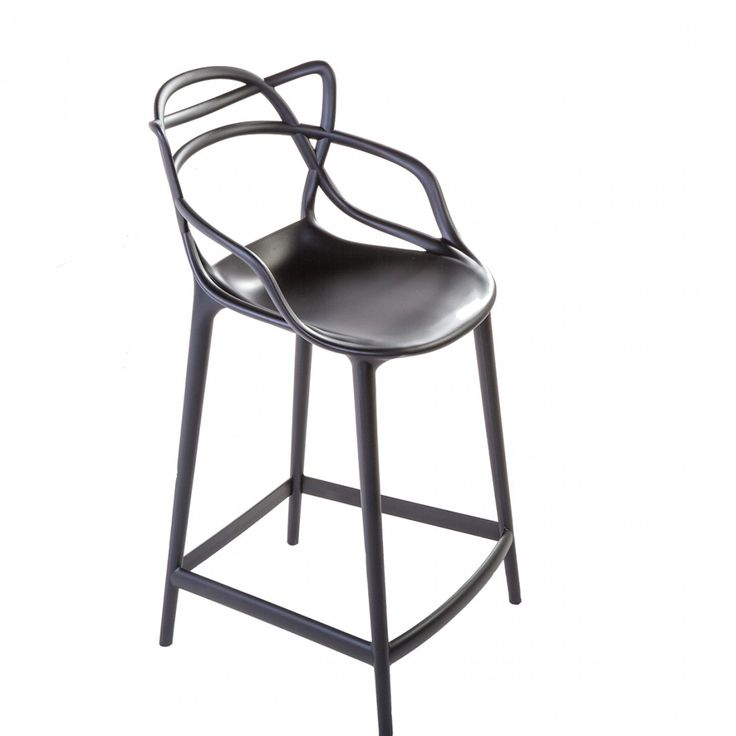 Mid-Century Modern Reproduction Masters Counter Stool - Black Inspired by Philippe Starck