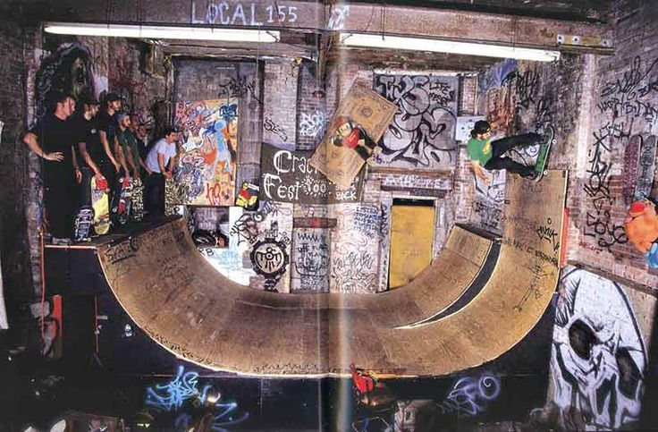 C Squat Half Pipe    Via: Full Bleed: New York City Skateboard Photography  [Alex Corporan, Andre Razo, Ivory Serra]
