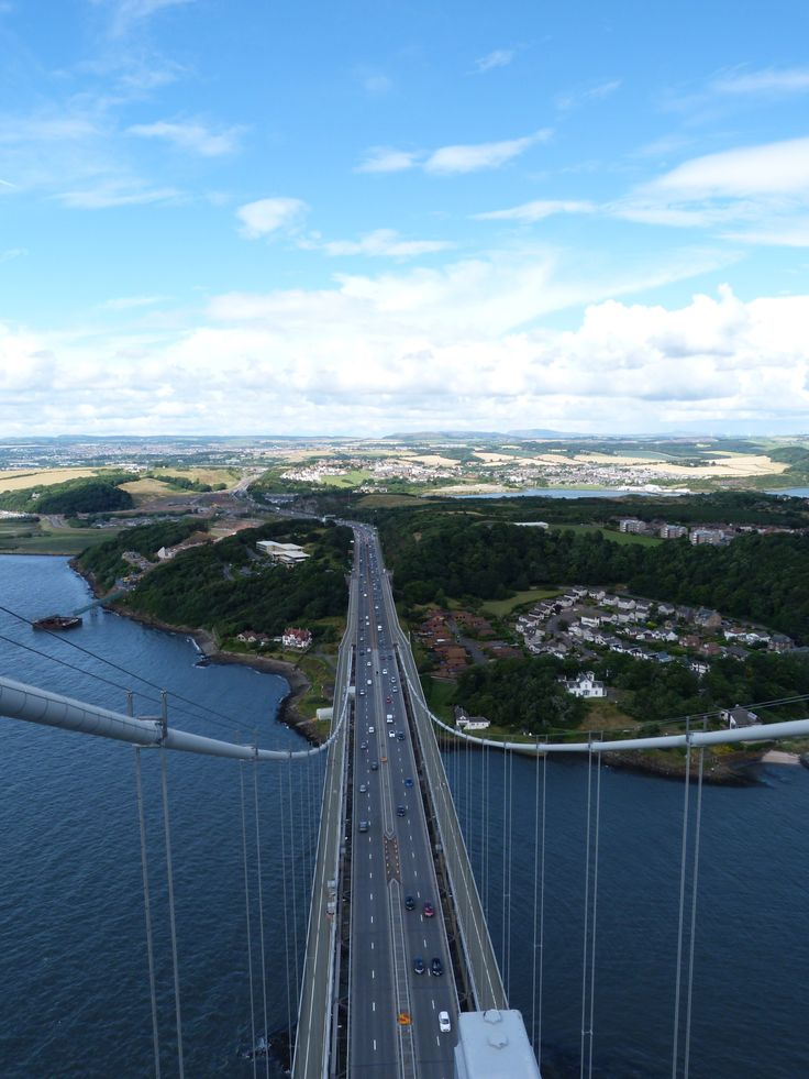 Top of the south tower forth road bridge