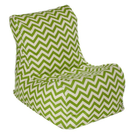 Add A Pop Of Pattern To Your Sunroom Or Deck With This Chic Beanbag Chair,  Offering A Bold Chevron Design.