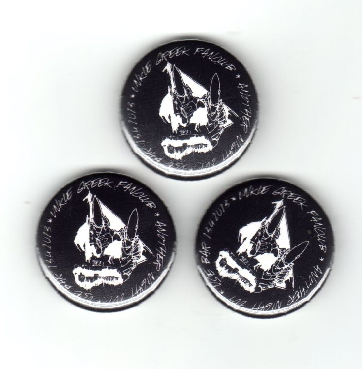 Unkle Greek Fan Club Badges (2013)