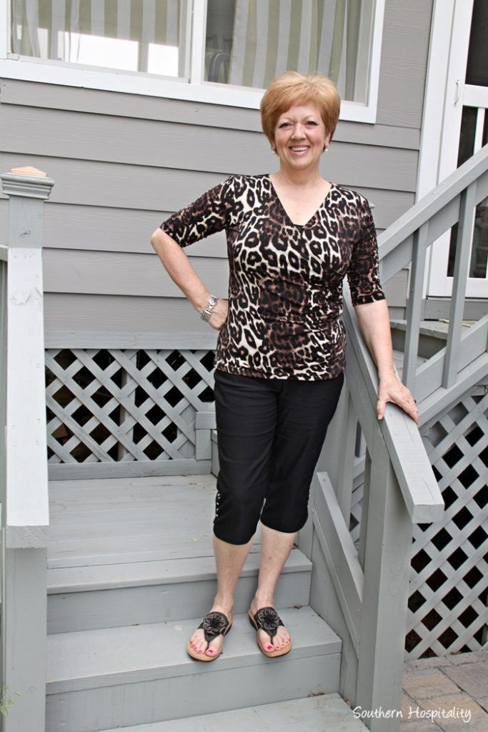 e97288117a8 animal-print-shirt-and-cropped-pants-683x1024 30 Best Summer Outfits for Women  Above 50 - Style Tips
