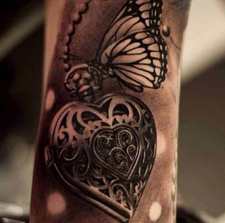 love the butterfly in this inside left forearm