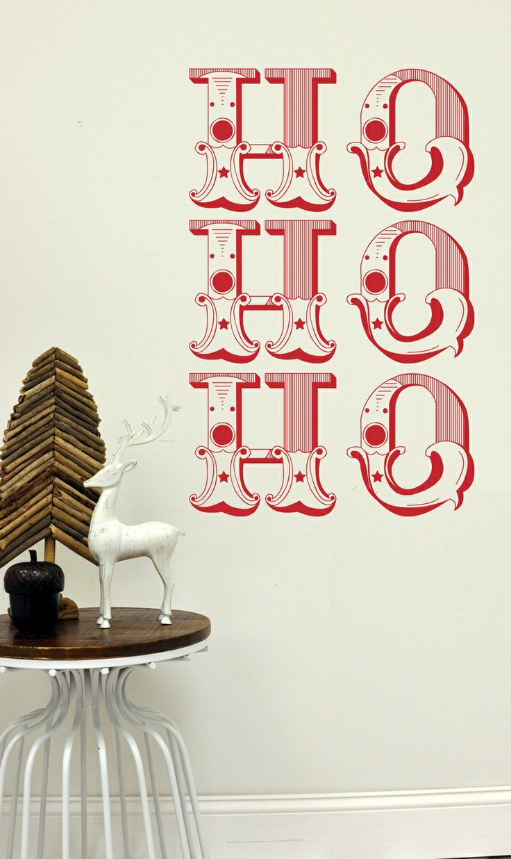 26 best wall decals images on pinterest nursery ideas nursery the lovely wall hohoho christmas wall decal removable wall decal 24 75