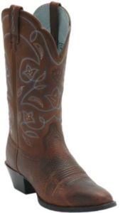 Ariat® Ladies Heritage Brown w/ Blue Stitching Western Boots