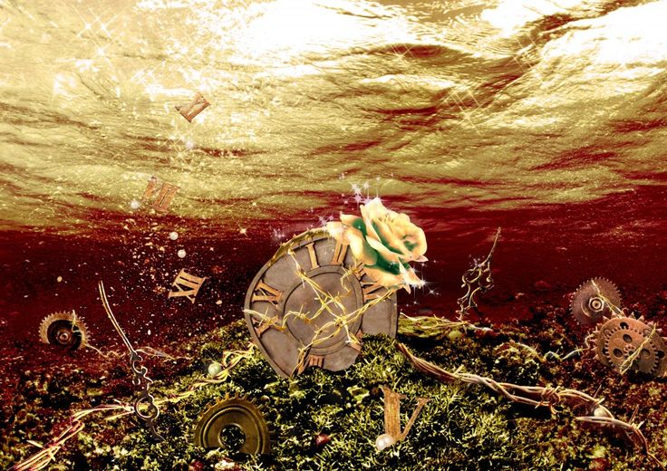 For my beloved granny... R.I.P.   Flower gleam and glow, Let your power shine, Make the clock reverse, Bring back what once was mine.  Heal what has been hurt, Change the fates design, Save what has been lost, Bring back what once was mine, What once was mine. #photoshop #photomanipulation #art #poster #flower #clock #underwater
