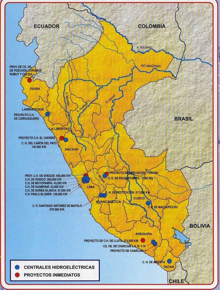 PARA MIS TAREAS: MAPA DE LAS CENTRALES HIDROELÉCTRICAS DEL PERÚ http://paramitarea.blogspot.com/2011/07/mapa-de-las-centrales-hidroelectricas.html