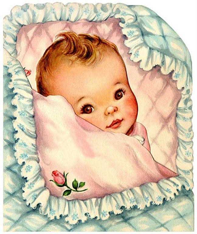 Для мамы, ретро открытки малыш