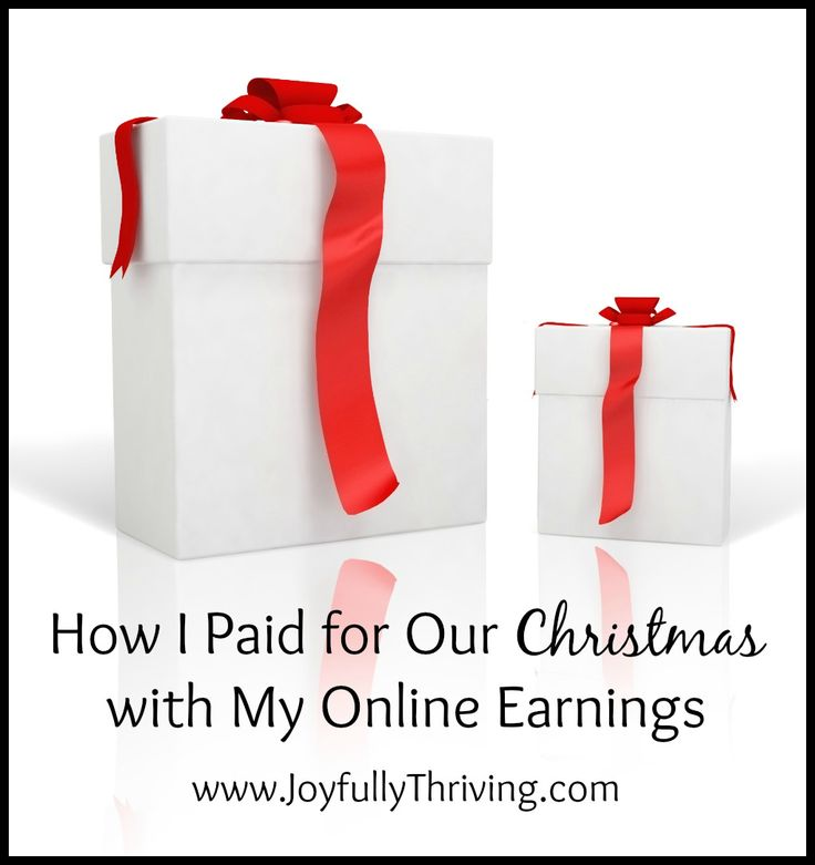 Wouldn't it be nice to pay for Christmas without any money taken from your budget? Here's how I paid for our Christmas using my online earnings. Start now and you can do it too!