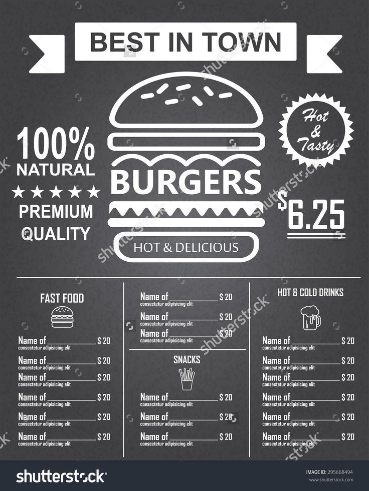 restaurant menu with blackboard background vector 29 free download