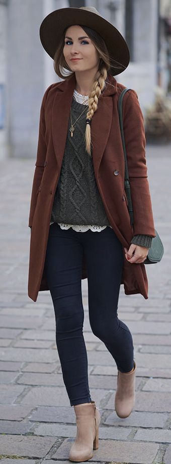 Winter Style // What a lovely color to wear this winter.