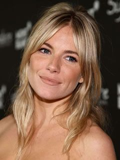 Long Haircuts for Oval Shaped Faces: Curtain Bangs, Sienna Miller