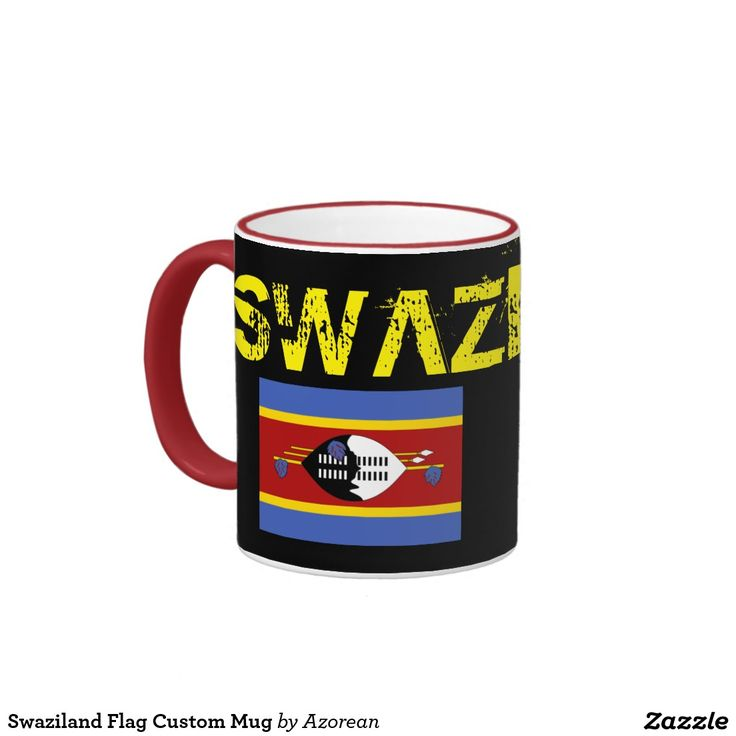Swaziland Flag Custom Mug