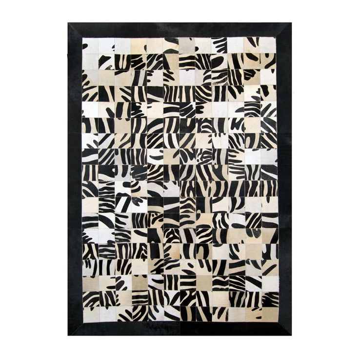 Bring a sense of wild safari right into your living room with this animal print rug #cowhide #leather #rugs #furhome https://www.furhome.gr/shop/en/patchwork-cowhide-rug-k1672-105.html