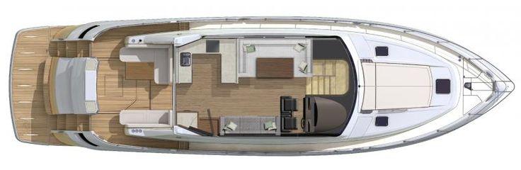 Riviera 6000 Sport Yacht | Deck Layout