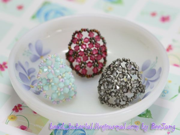 How to bead this cute ring.: Weaving Beads, Beads Tutorial, Crafts Ideas, Rings Tutorials, Seeds Beads, Candy Rings, Beads Rings, Beaded Rings, Beads Jewelry