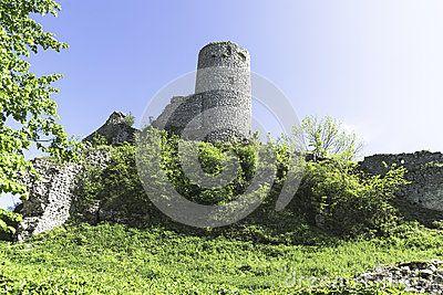 The ruins of the castle in Smolen, Poland