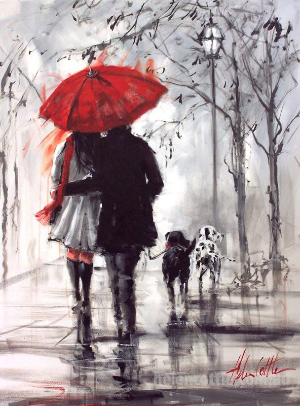 Afternoon Reflections. Acrylic on canvas. Helen Cottle