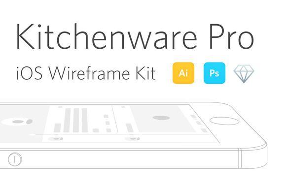 Kitchenware Pro - iOS Wireframe Kit by Neway Lau on Creative Market