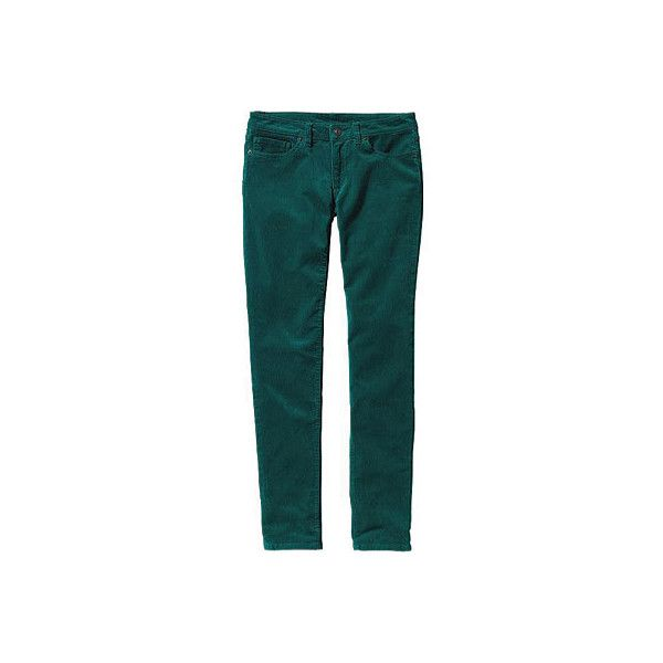 Women's Patagonia Fitted Corduroy Pants - Arbor Green (135 NZD) ❤ liked on Polyvore featuring pants, green, 5 pocket pants, fitted pants, zipper pants, stretchy pants and cordoroy pants