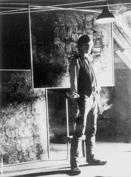 Stuart in the Attic Studio in Astrid Kirchherr's house, 1961 (Astrid Kirchherr)