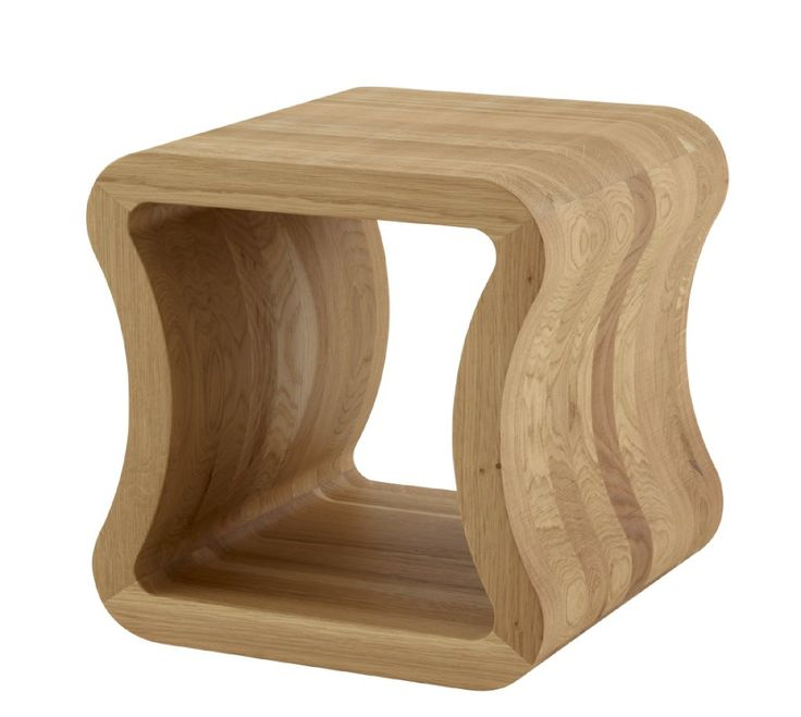 ONE SHAPE is a handy sofa end table in natural varnished solid oak measuring 40x40x40cms. Also available in black stained ash and white ceramic.