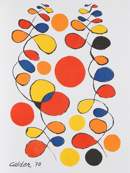 Alexander Calder, American (1898 - 1976) Title: Untitled - III Year: 1970 Medium: Lithograph, signed in the plate Size: 31 in. x 24 in. (78.74 cm x 60.96 cm) http://rogallery.com/Calder_Alexander/calder_alexander-hm.htm http://rogallery.com/Calder_Alexander/calder-lithograph-III.html