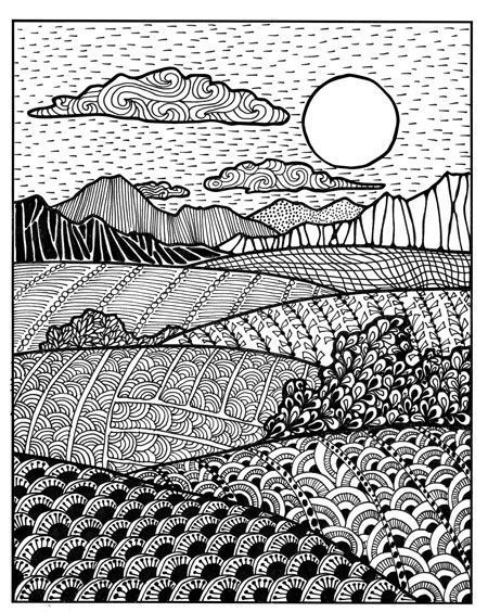 Muster #LandscapeDrawing