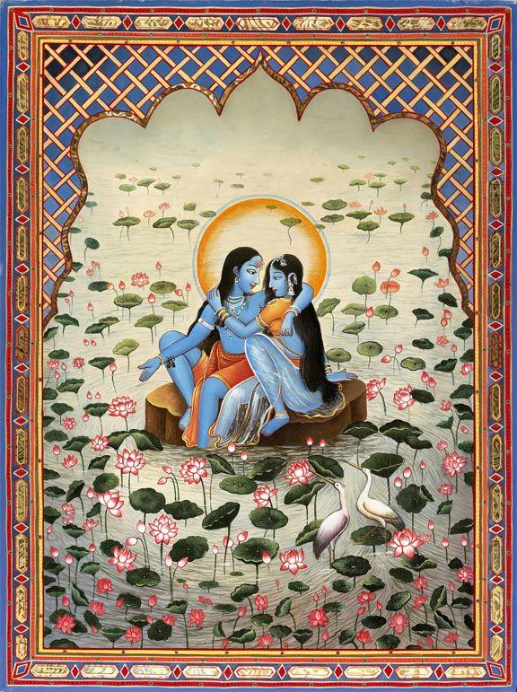 Blue Radha Krishna - Rajasthan painting