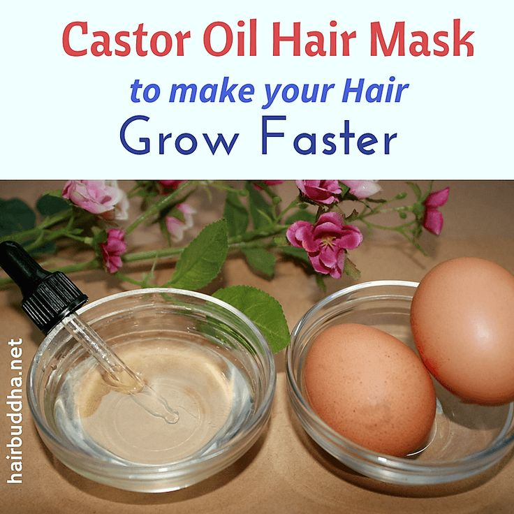 Castor oil is amazing for hair. When used with egg in a hair mask, it can promote faster hair growth and also increase thickness of your hair