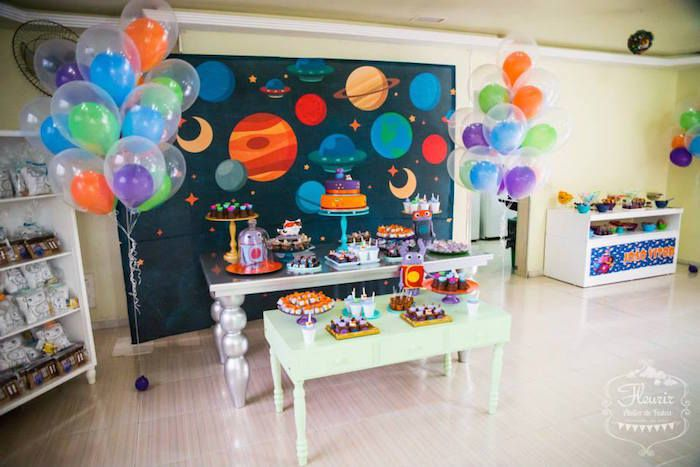 Home Inspired Alien Birthday Party via Kara's Party Ideas | The Place For All Things Party! KarasPartyIdeas.com (12)