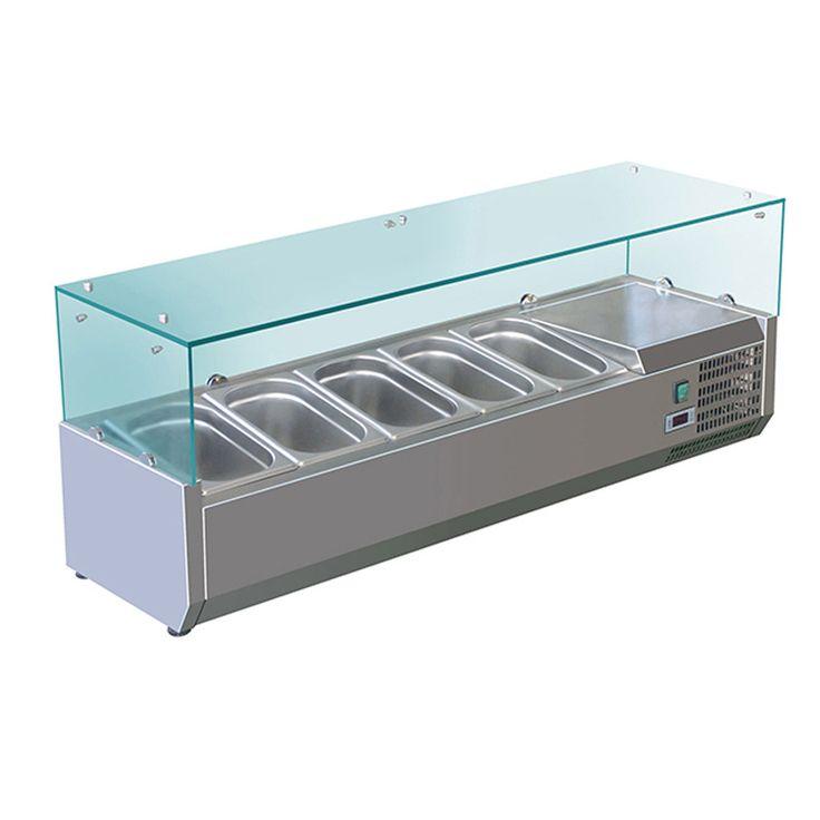 Stainless  Salad Pizza sandwiches ingredient Prep Restaurant Refrigerator fridge cabinet working bench counter Worktable Chiller