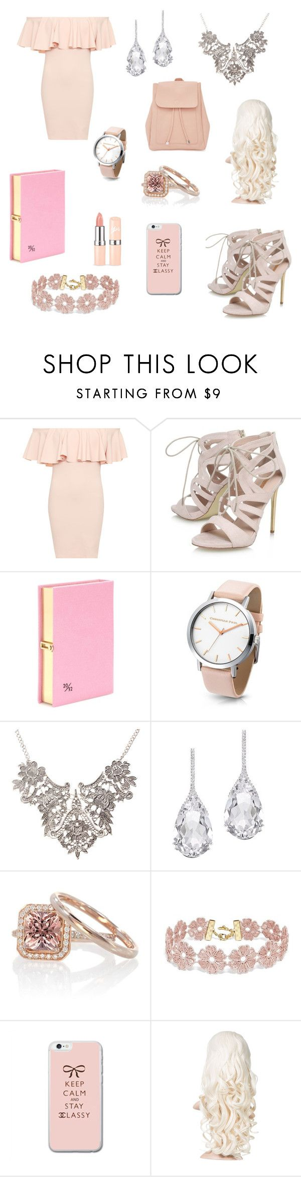 """first day of school"" by meltdownmaniac ❤ liked on Polyvore featuring WearAll, Carvela, Olympia Le-Tan, Plukka, BaubleBar and New Look"