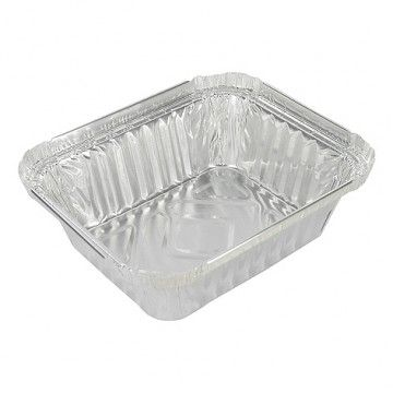 Alu lasagne bakken 500 cc 1000 stuks #Aluminium #wegwerp #serveerschalen #ovenschalen #cateringschalen