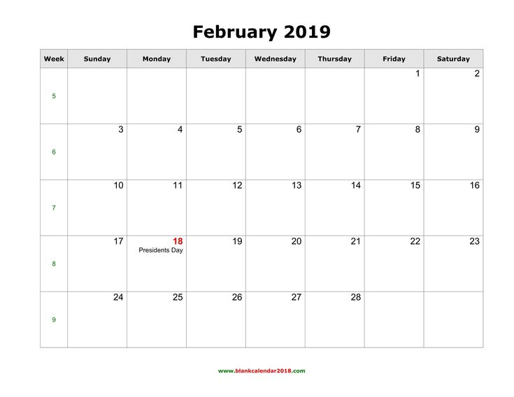 February 2019 Calendar With Holidays India #FebruaryCalendar