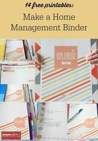 Get organized with these 14 FREE Home Management Binder Printables. This post shows you how to make a home management binder, how to divide your sections into categories, and a smart filing system with pocketed dividers.