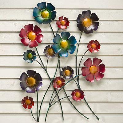 Plow U0026 Hearth Metal Flower Wall Decor