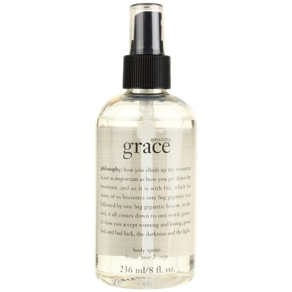 Philosophy amazing grace body spritz (8oz) ($26) ❤ liked on Polyvore featuring beauty products, bath & body products, fillers, beauty, makeup, accessories, fragrance and philosophy beauty products